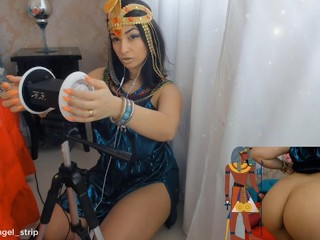 ASMR 3dio Cosplay Cleopatra Cumming for you Goazando Gostoso