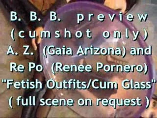 "B.B.B.preview: AZ & RePo ""Fetish Outfits Cum Receptacle"" with SloMo cumshot"