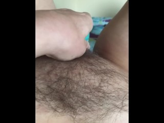 Fucking my pussy with a vibrating bullet