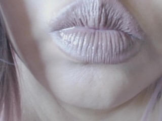 Pale Lips/Wet Tongue Fetish