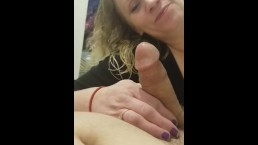Baby caught me masturbating then put it down her throat