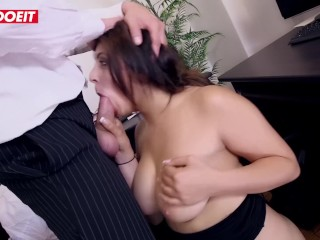 Horny Secretary With Huge Tits Fucks Her Boss In The Office