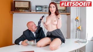 German Cute Secretary Fucked Hard By Older Boss #LETSDOEIT
