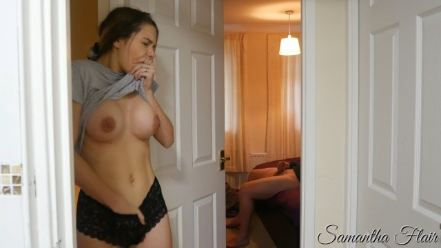 Busty stepdaughter - Naughty stepdaughter 1 - spying on stepdad jerking off