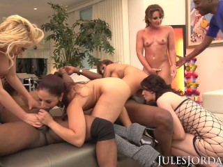 Tommie Jo Nude Fucking, Jules Jordan- Orgy Masters Party Guess Who Gets DPd Orgy Big ass