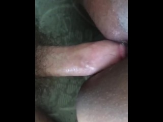 Chubby milf gets woken up with big cock