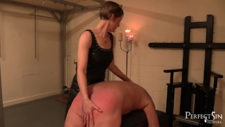 Femdom by Mistress Silver - Painful Ass Slapping eith British Domina