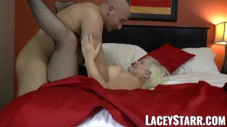 LACEYSTARR – GILF seduces big dicked hunk into hard pounding