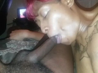 Spex blondy jerking cock pov