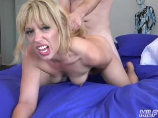 MILF Trip – Thick ass blonde MILF loves big fat cock