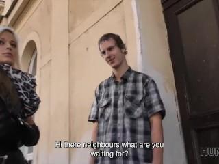 HUNT4K. Couple earns money by selling girl's wet pussy to stranger
