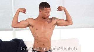 GayCastings Hunk Kevin Blaise fucked by casting agent Silver riding