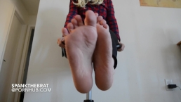 Sexy size 6 foot tease