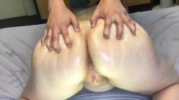 Massaging Pregnant GFs Back And Ass + Orgasm MASSAGE2018
