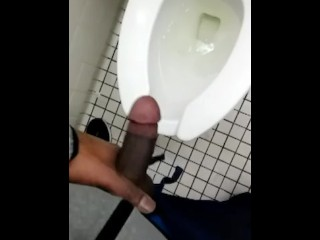 Pissing in a public bathroom (What a relief)