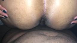 Redbone squirting on big black dick