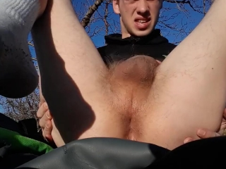 TEEN BOY JACKING OFF OUTSIDE IN THE COLD...