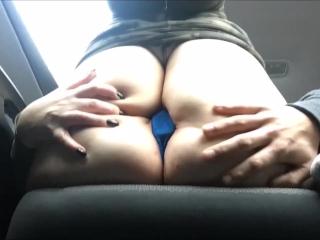 Public Sex On Back Road   POV   Bluetooth Vibrator Makes Her Cum In Car