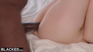 Cock black mandingo's blacked blonde model meets enourmous ebony cowgirl