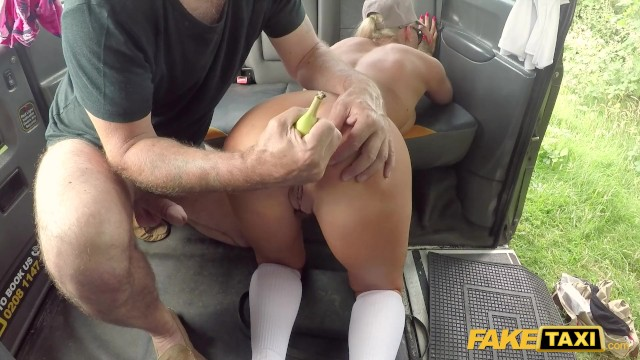 Anal sretch - Fake taxi anal stretching of the fruity kind