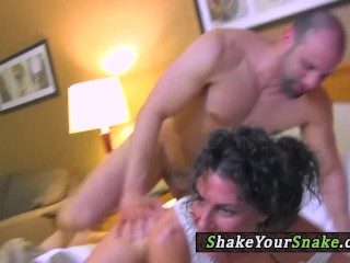 Yoga milf cockriding before jerking
