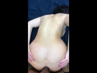 Pussy Lips Spread Wide Smokin hot curvy MILF takes a fat cock in her ass till she screams