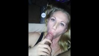 Pretty blonde on big dick