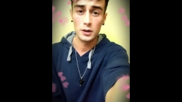 Love cum video for girlfriend on her pink blanket