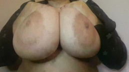 Amautur BBW Latina Huge Natural 42DD Bouncing Nipple and Boob Play