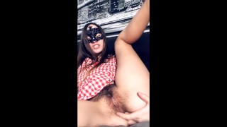 CUTE TEEN PLAYS IN SNAPCHAT WITH HER HAIRY PUSSY AND ASSHOLE
