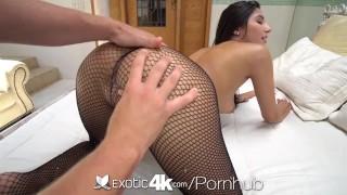 EXOTIC4K HUGE dick punishes SOAKING wet pussy