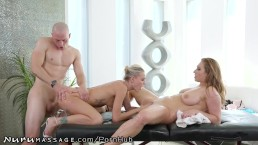 NuruMassage Lucky Guy Isn't Expecting to Fuck 2 Chicks Today!