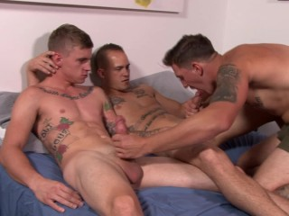 ActiveDuty Straight Military Group Having Rough Bareback Sex