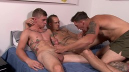 ActiveDuty Straight Military Group Having Rough Bareback Sex