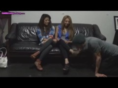 Slave humiliated by Goddess Jennifer and her friend to worship feet.