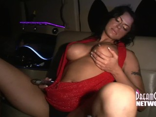 Two Girls Lick Pussy In Limo On The Way To The Club