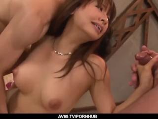 Nude milf on her back
