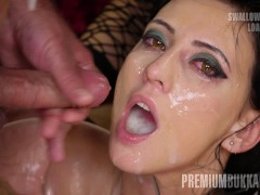 Premium Bukkake - Sherry Vine swallows 66 huge mouthful cumshots