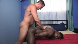Black Thug Gets Barebacked And Cum Inside By A Big White Dick