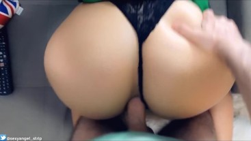 cosplay irish girl sucking, fucking ass gostosa chupando e dando o cu POV