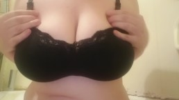 Wife shows off her big tits
