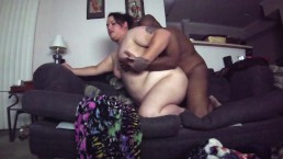 BBW Trans Girlfriend Blowjob and Fucked on Couch (Teaser)