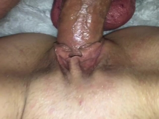 Tinder date milf squirts on my dick close pussy fuck creampie her view