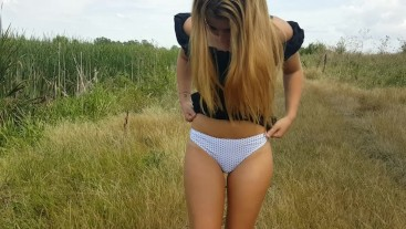 BellaBluee-Quicky Public Sex in Nature Hot Cumshot