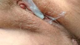 Horny Milf Outside Masturbation Cum Alone