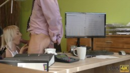 LOAN4K. Blonde-haired miss gets sissy banged hard in loan porn video