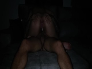 I ride his cock until he cum inside me