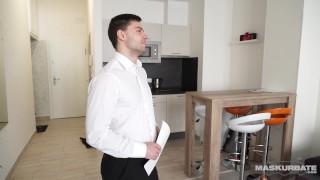 Maskurbate Straight Euro Real Estate Broker Masturbating