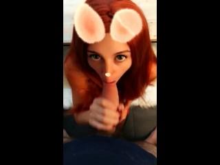 Erotica downloads je pilonne une lapine sexy sur snapchat, lapin pipe blowjob facial ejaculation faciale