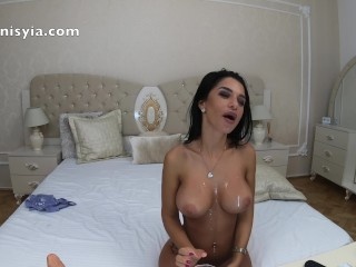 Sexy boobs cumshot